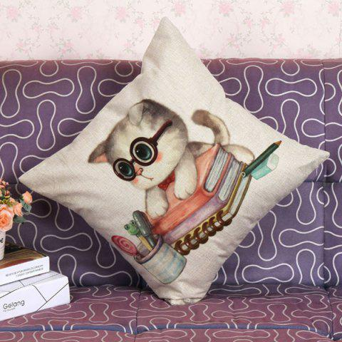 New Lovely Kitten Pattern Square Shape Pillow Case (Without Pillow Inner) - COLORMIX  Mobile