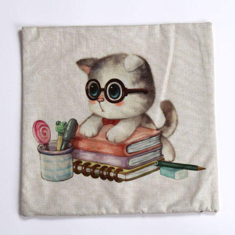 Buy Lovely Kitten Pattern Square Shape Pillow Case (Without Pillow Inner) - COLORMIX  Mobile