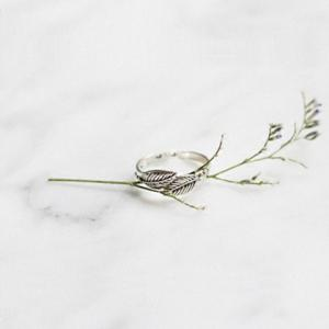 Delicate Feather Cuff Ring For Women -