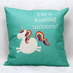Cartoon Unicorn Pattern Square Shape Pillow Case(Without Pillow Inner) -