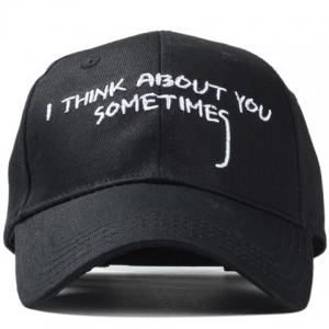 Stylish Hand Painted Capital Letter Embroidery Baseball Cap For Men -