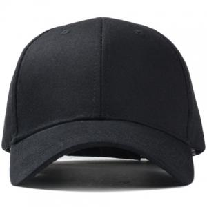 Stylish Solid Color Baseball Cap For Men and Women - BLACK