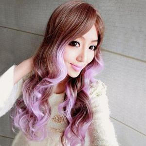 Charming Long Wavy Synthetic Harajuku Cosplay Wig For Women - OMBRE