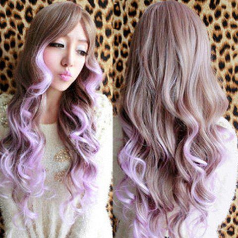 Shops Charming Long Wavy Synthetic Harajuku Cosplay Wig For Women OMBRE