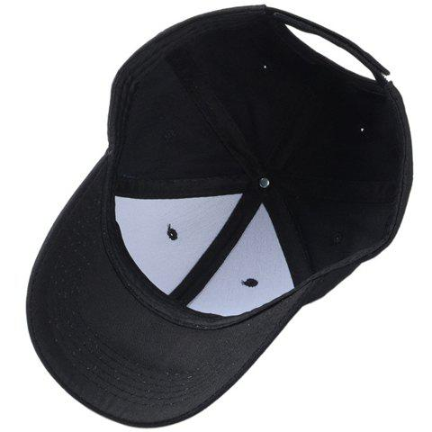 Fashion Stylish Solid Color Baseball Cap For Men and Women - BLACK  Mobile