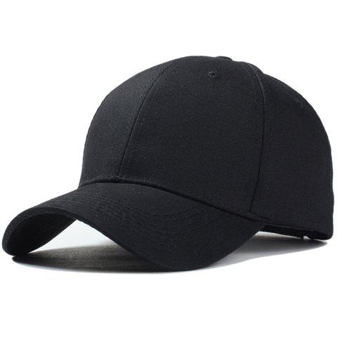 Buy Stylish Solid Color Baseball Cap For Men and Women BLACK