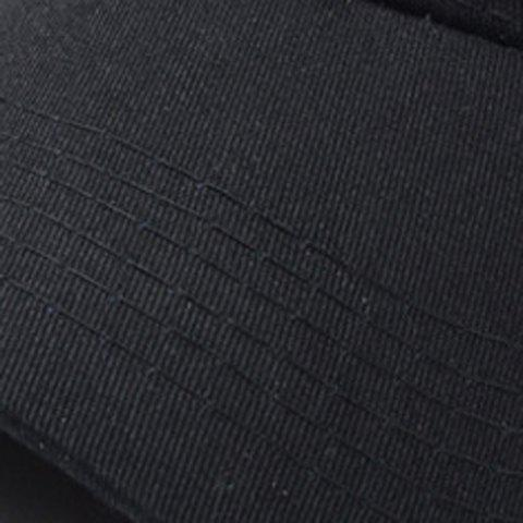 Fancy Stylish Solid Color Baseball Cap For Men and Women - BLACK  Mobile