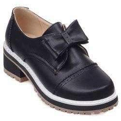 Trendy Bow and Engraving Design Pumps For Women -