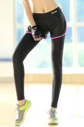 Trendy High Stretchy Faux Twinset Slit Women's Yoga Pants
