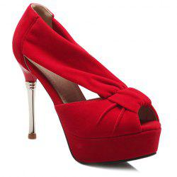 Stylish Platform and Solid Colour Design Peep Toe Shoes For Women -