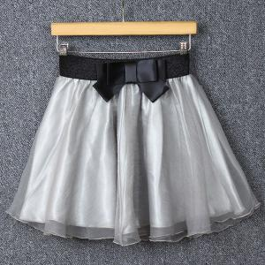 Stylish Bowknot Organza Skirt For Women -