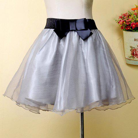 Best Stylish Bowknot Organza Skirt For Women