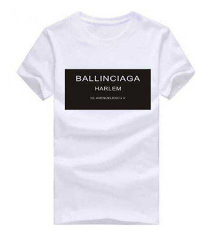 Buy Stylish Hit Color Letter Printed Pullover T-Shirt For Women