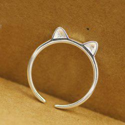 Cat Ear Shape Cuff Ring -