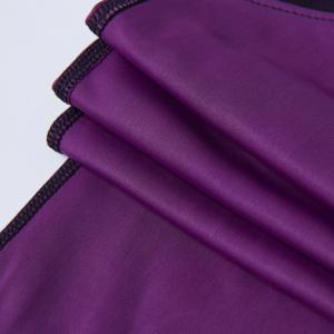 Stylish Elastic Waist Color Block Voile Spliced Yoga Pants For Women - PURPLE L