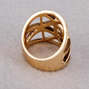 Geometric Hollow Out Ring -