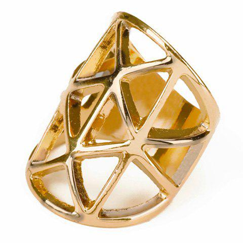 Affordable Geometric Hollow Out Ring