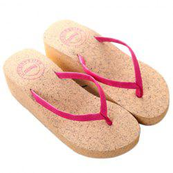 Casual Suede and Wedge Heel Design Slippers For Women