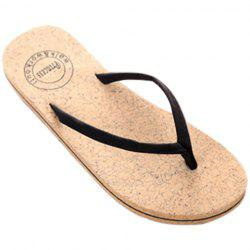 Leisure Solid Color and Flip Flop Design Slippers For Women - BLACK