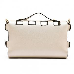 New Arrival PU Leather and Hasp Design Tote Bag For Women - OFF WHITE