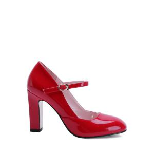 Elegant Ankle-Wrap and Chunky Heel Design Pumps For Women
