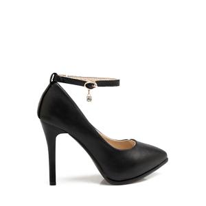 Elegant Ankle Strap and Stiletto Heel Design Pumps For Women - Black - 39