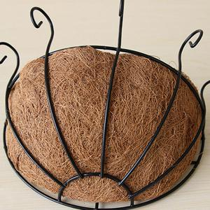 Hot Sale Fashion Coconut Palm Iron Wall Hanging Basket -