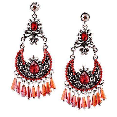 Shop Gothic Faux Crystal Water Drop Earrings For