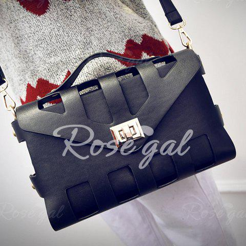 New Arrival PU Leather and Hasp Design Tote Bag For Women от Rosegal.com INT