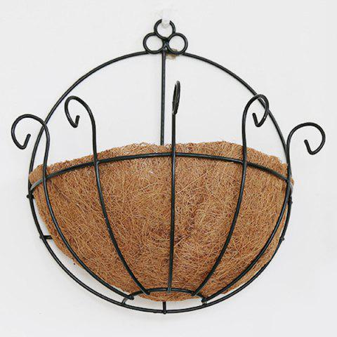 Chic Hot Sale Fashion Coconut Palm Iron Wall Hanging Basket