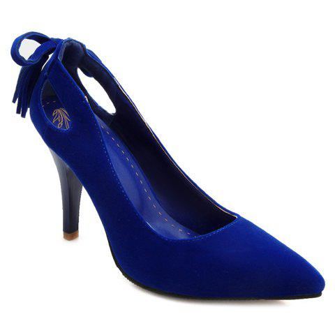Buy Graceful Hollow Out and Tassel Design Pumps For Women BLUE 36