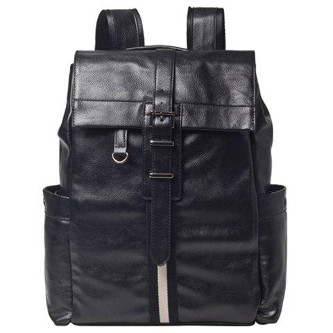 Shops Casual Metal and PU Leather Design Backpack For Men