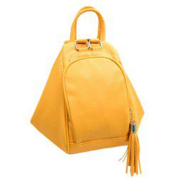 Preppy Style PU Leather and Tassels Design Satchel For Women