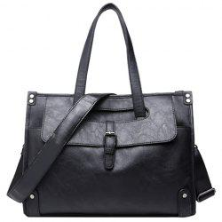 Trendy Buckle and Black Colour Design Briefcase For Men -