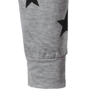 Round Collar Star Letter Printed Long Sleeves T-Shirt For Men -