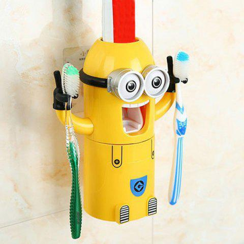 Despicable Me Automatic Toothpaste Dispenser Minion Shape Toothbrush Toothpaste Holder - YELLOW