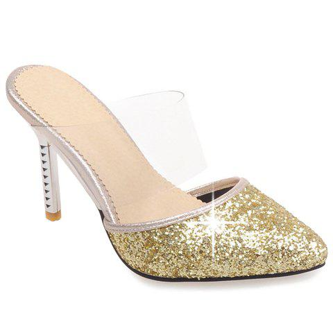 Outfits Sexy Sequins and Pointed Toe Design Slippers For Women