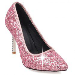 Elegant Sequins and Pointed Toe Design Pumps For Women - PINK