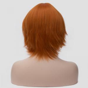 Spiffy Orange Short Straight Anti Alice Hair Synthetic Universal Cosplay Wig For Women -