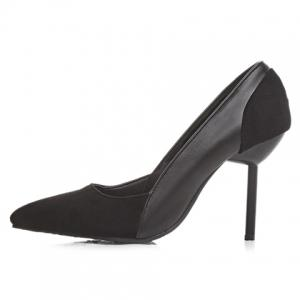 Simple Splicing and Pointed Toe Design Pumps For Women - BLACK 39