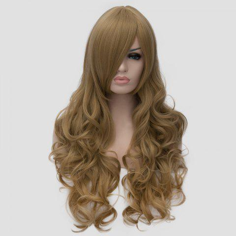 Best Charming Flaxen Long Shaggy Wave Side Bang Synthetic Cosplay Wig For Women - FLAX  Mobile