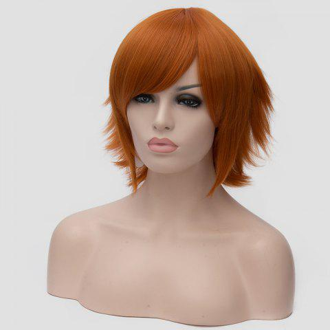 Buy Spiffy Orange Short Straight Anti Alice Hair Synthetic Universal Cosplay Wig For Women - ORANGE  Mobile
