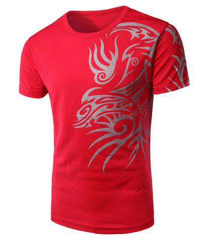 Shops Round Neck Chinese Style Printing Short Sleeve Men's T-Shirt
