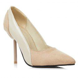 Simple Splicing and Pointed Toe Design Pumps For Women - OFF-WHITE