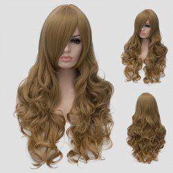 Charming Flaxen Long Shaggy Wave Side Bang Synthetic Cosplay Wig For Women -