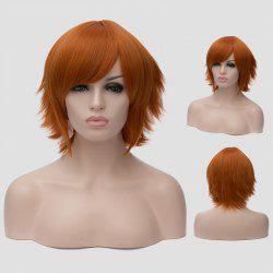 Spiffy Orange Short Straight Anti Alice Hair Synthetic Universal Cosplay Wig For Women - ORANGE