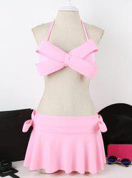 Women's Sexy Bowknot Decorated Candy Color Bikini -