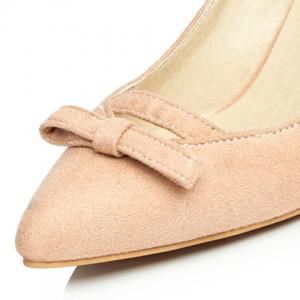 Simple Bowknot and Suede Design Pumps For Women -