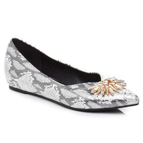 Trendy Elegant Rhinestone and Pointed Toe Design Flat Shoes For Women