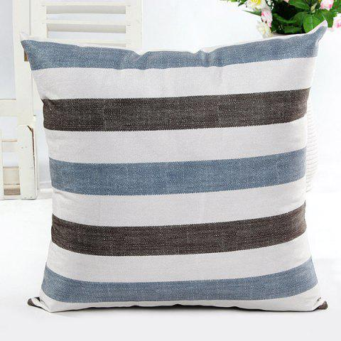 Unique Square Shape Simple Stripe Printed Pillow Case(Without Pillow Inner)